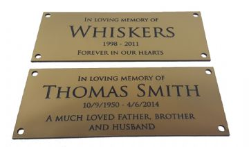 Acrylic Brushed Gold Memorial/Funeral Plaque Choose Your Text - Person or Pet